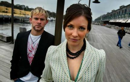 Dominic Monaghan y Evangeline Lilly