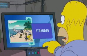 Homero se vuelve adicto a LOST en Los Simpsons