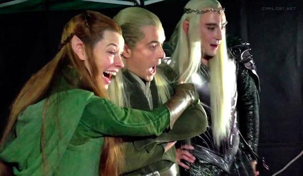 Tauriel, Legolas y Thranduil en Hobbit