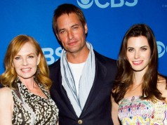 Marg Helgenberger, Josh_Holloway y Meghan Ory - Intelligence CBS Upfront 2013