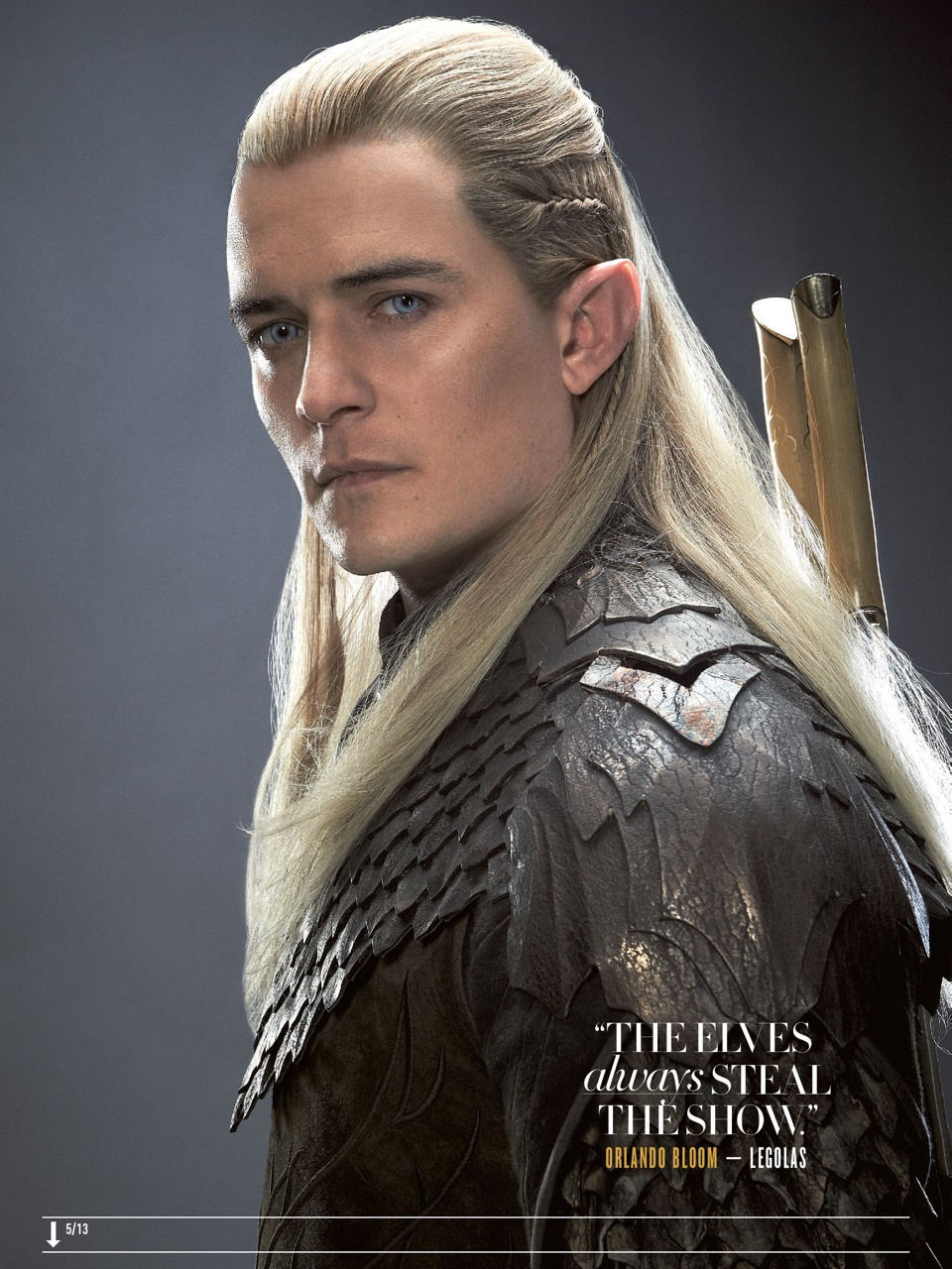 The Hobbit: Legolas (Orlando Bloom) - Empire Magazine (Aug 2013)