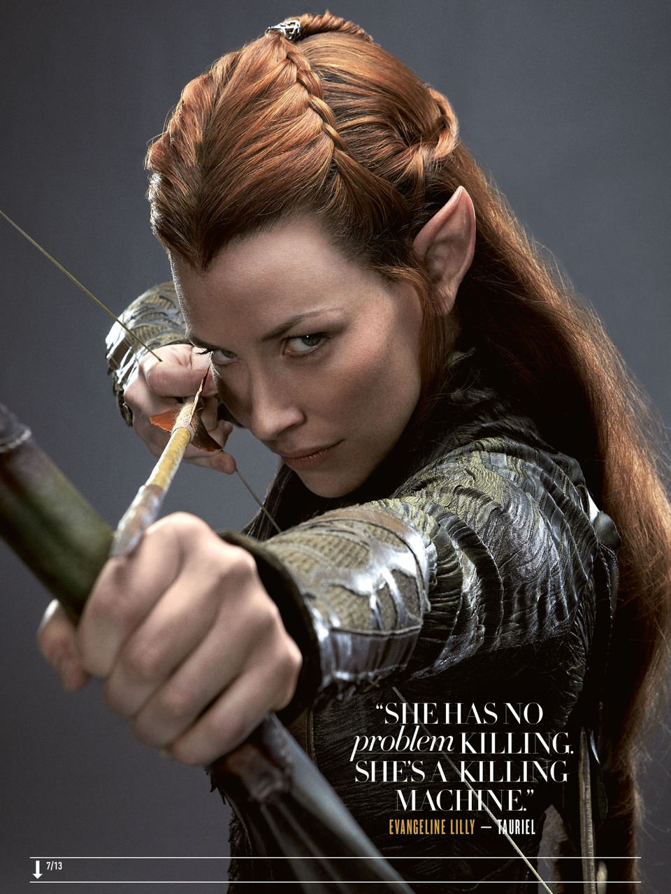 The Hobbit: Tauriel (Evangeline Lilly) - Empire Magazine (Aug 2013)