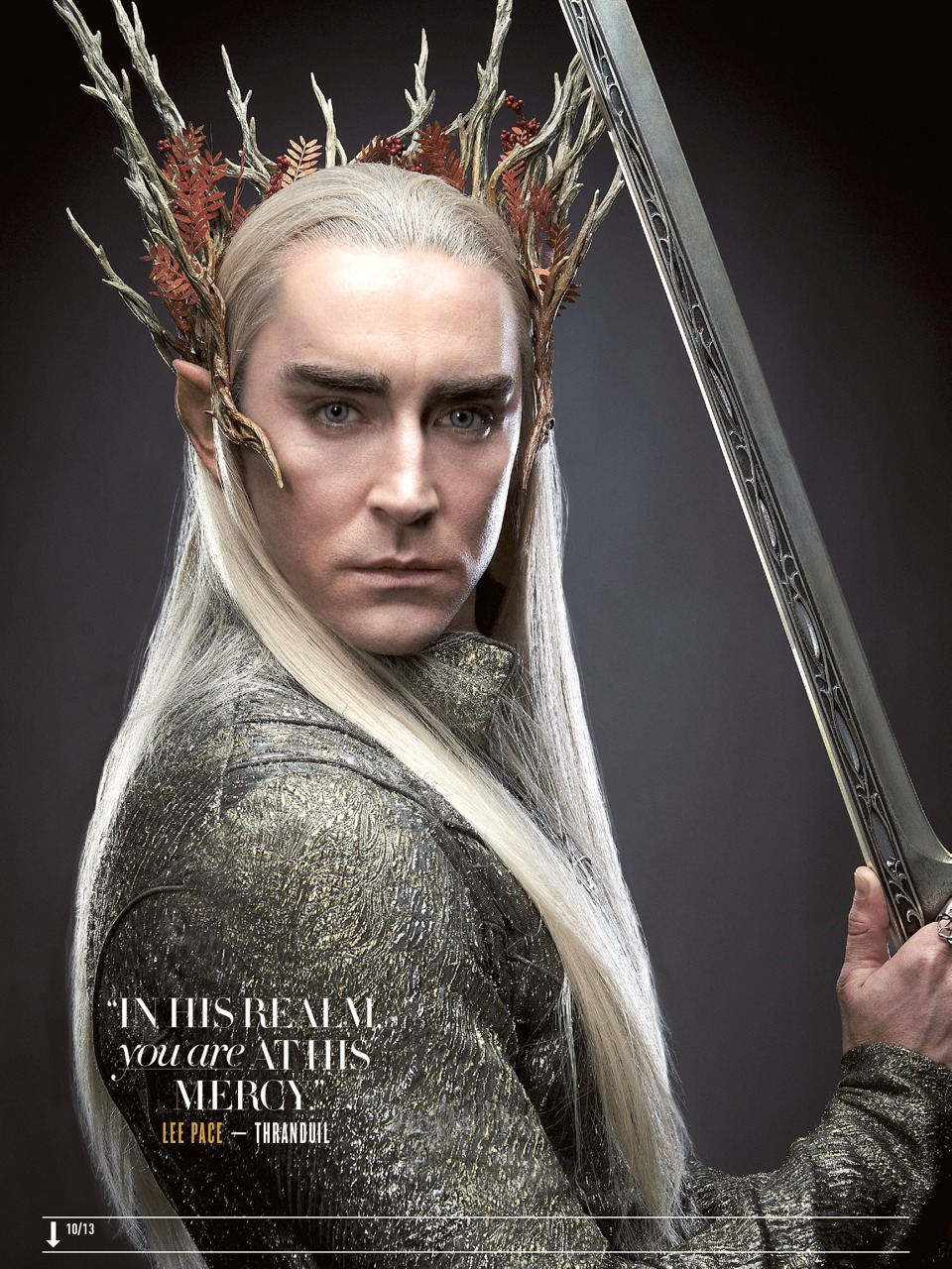 The Hobbit: Thraduil (Lee Pace) - Empire Magazine (Aug 2013)