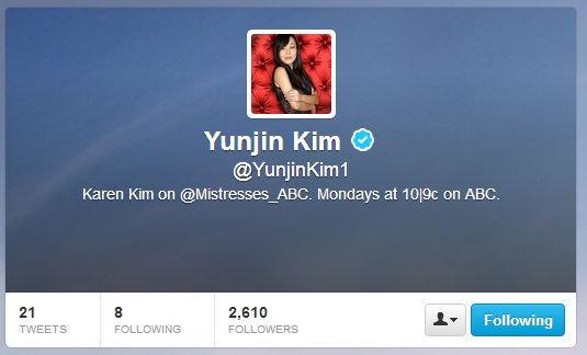 Yunjin Kim Twitter
