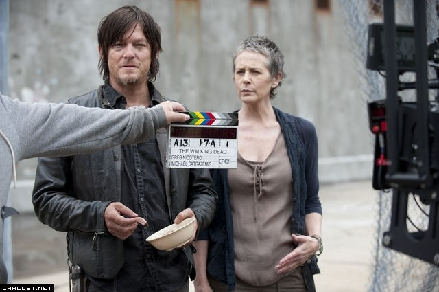 The Walking Dead 4x01 BTS