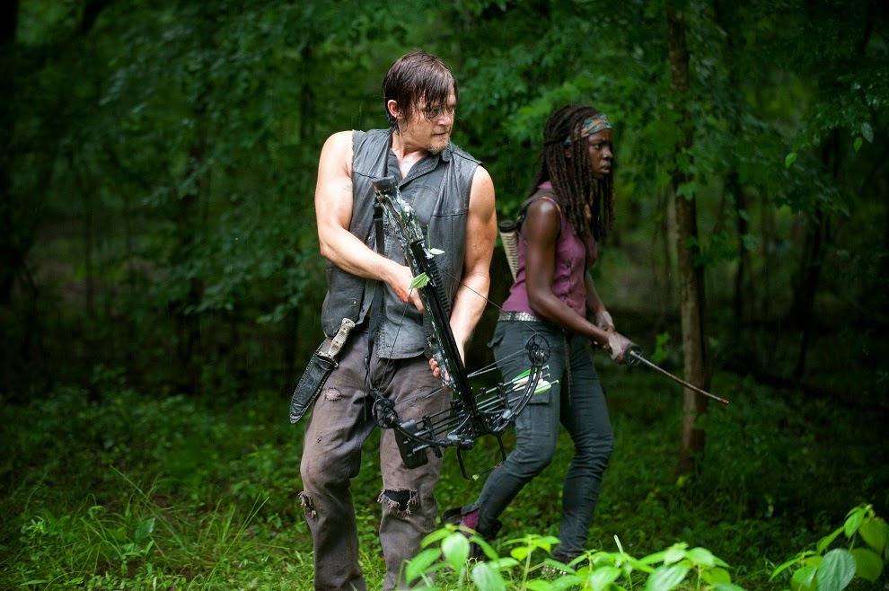 Daryl Dixon y Michonne en The Walking Dead 4x03 Isolation