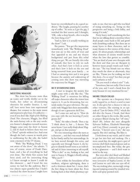 Lauren Cohan - Eidé Magazine 2013/2014