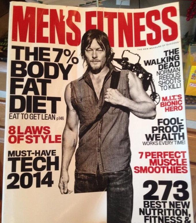 Norman Reedus en la portada de Men's Fitness (Diciembre 2013)