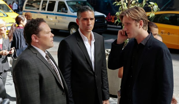 Kevin Chapman, Jim Caviezel y Aaron Staton en Person of Interest 3x07