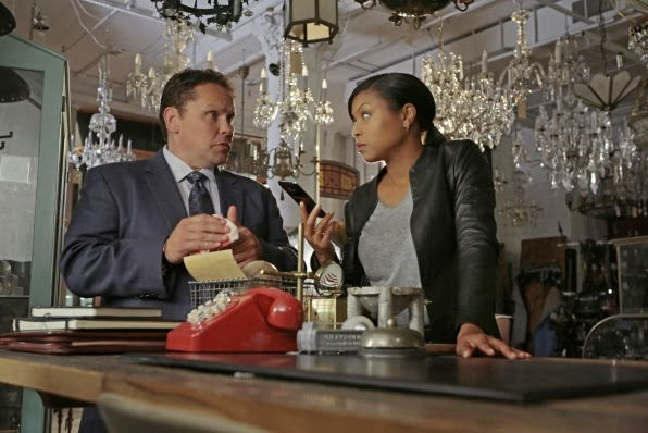 Detective Fusco (Kevin Chapman) y Carter (Taraji P.Henson) en Person of Interest 3x07