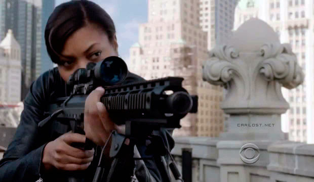 Joss Carter (Taraji P.Henson) en Person of Interest 3x08 Endgame