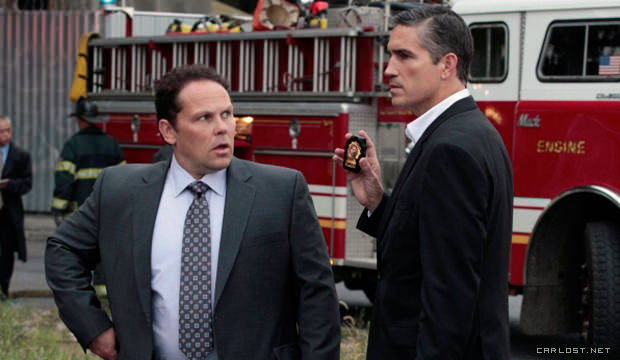 Fusco (Kevin Chapman) y Reese (Jim Caviezel) en Person of Interest 3x08 Endgame