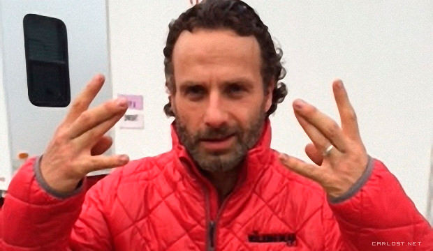 Andrew Lincoln (Rick Grimes) en el ultimo día de rodaje de The Walking Dead 4