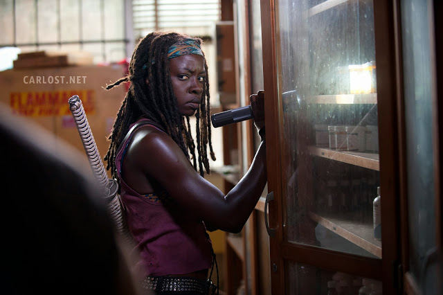 Michonne (Danai Gurira) en The Walking Dead 4.04 Indifference.