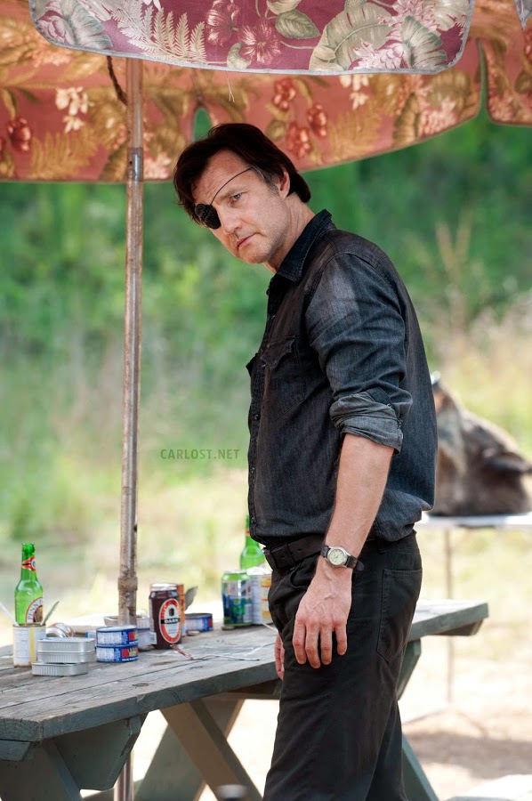 El Gobernador (David Morrissey) en el nuevo campamento, The Walking Dead 4x07