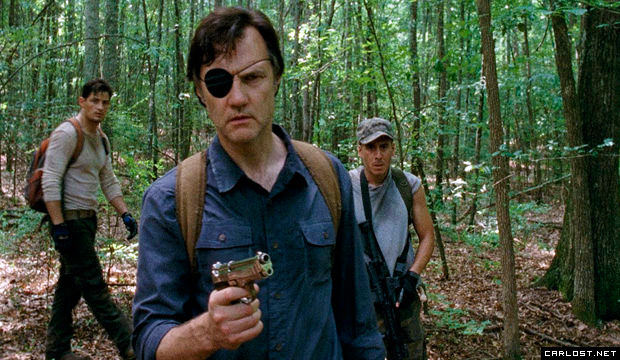 Enver Gjokaj, David Morrissey y Kirk Acevedo en The Walking Dead 4x07 Dead Weight