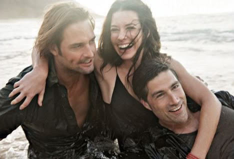 Josh Holloway, Evangeline Lilly & Matthew Fox - Vanity Fair Photoshoot