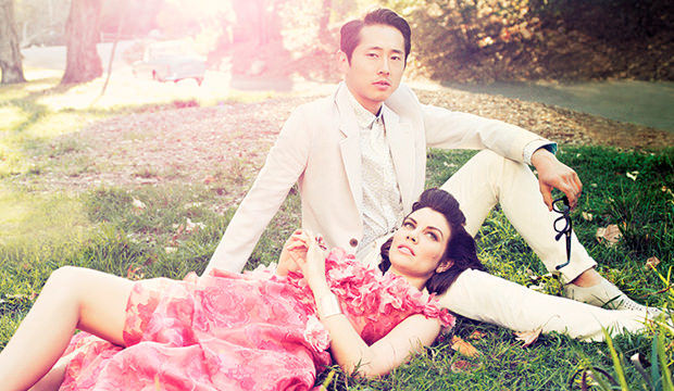 Lauren Cohan & Steven Yeun - Los Angeles Magazine Photoshoot