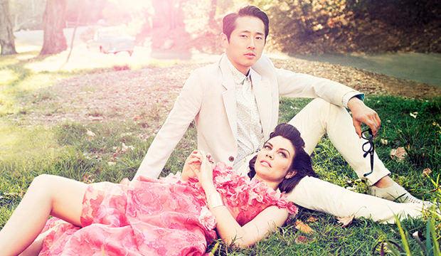 Lauren Cohan & Steven Yeun - Los Angeles Magazine Photoshoot