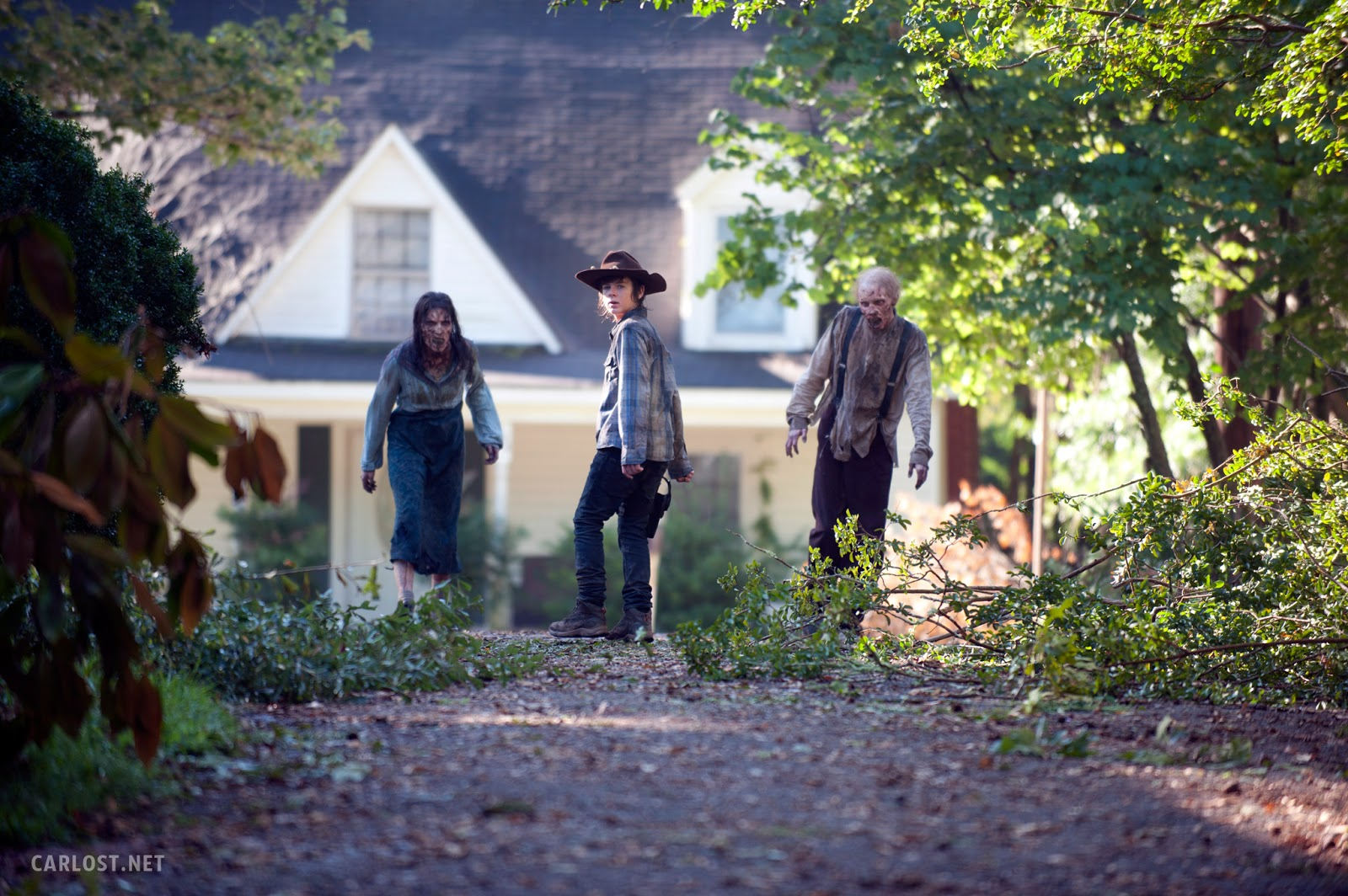 Carl Grimes (Chandler Riggs) en The Walking Dead 4x09 After