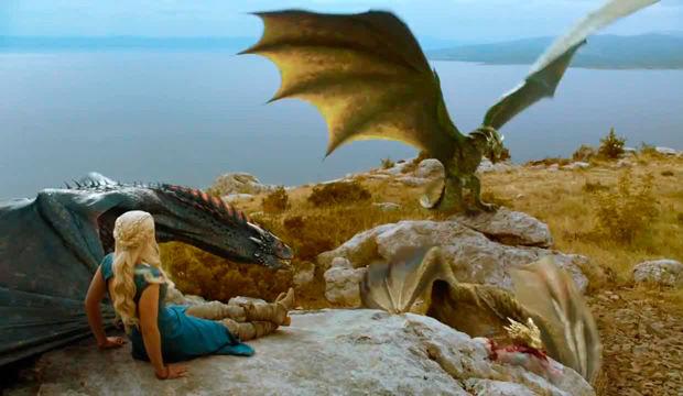 Game of Thrones Cuarta Temporada - Daenerys y sus dragones