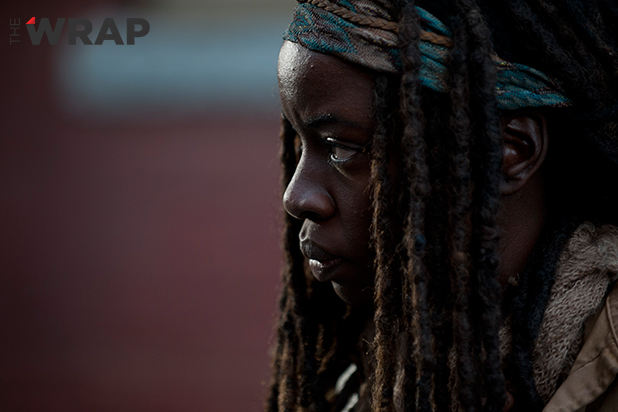Michonne (Danai Gurira) en The Walking Dead 4x16 A Season Finale