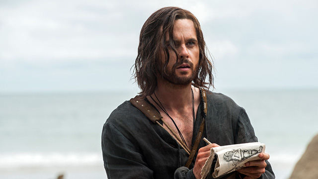 Leonardo Da Vinci (Tom Riley) en Da Vinci's Demons 2x05 The Sun and The Moon