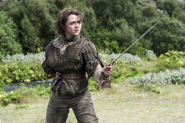 Arya Stark (Maisie Williams) en Juego de Tronos 4x05 First of His Name