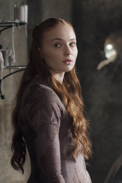 Sansa Stark (Sophie Turner) en Game of Thrones S04E08