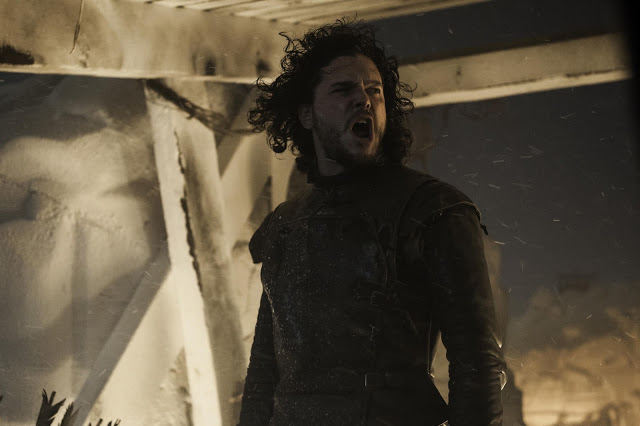 Jon Snow (Kit Harington) en Game of Thrones S04E09 The Watchers on the Wall