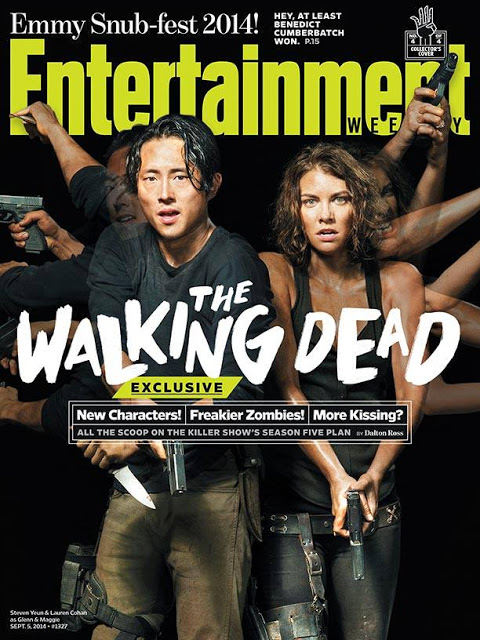 The Walking Dead - Glenn (Steven Yeun) - Maggie (Lauren Cohan) EW Cover 2014