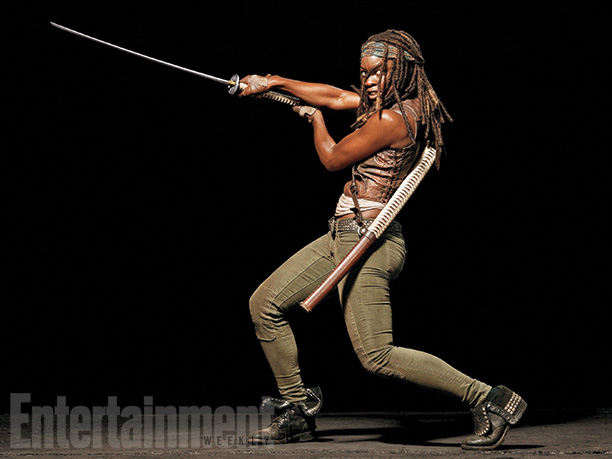 The Walking Dead Michonne (Danai Gurira) - EW Photoshoot 2014