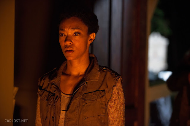 Sasha (Sonequa Martin-Green) en The Walking Dead 5x02 Strangers