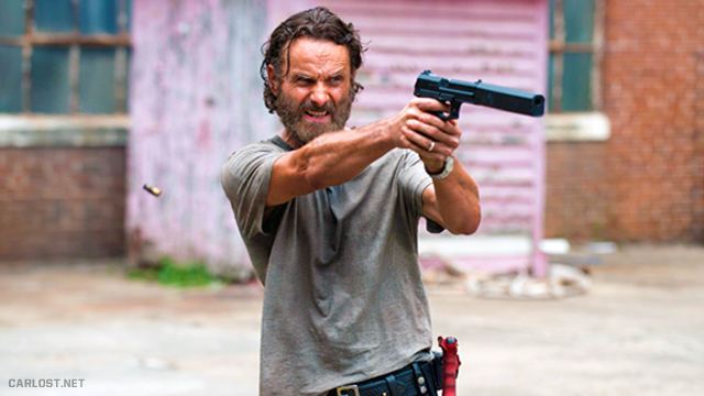 Rick Grimes (Andrew Lincoln) en The Walking Dead 5x07 Crossed