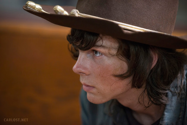 Carl Grimes (Chandler Riggs) en The Walking Dead 508 Coda (Mid-Season Finale)