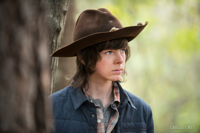 Carl Grimes (Chandler Riggs) en The Walking Dead 5x15 Try