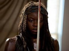 Danai Gurira como Michonne en The Walking Dead Temporada 6, Capítulo 8
