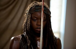 Danai Gurira como Michonne en The Walking Dead Temporada 6, Capítulo 8