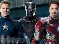 Capitan America, Black Panther, Iron Man - EW Cover