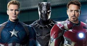 Capitan America, Black Panther, Iron Man - EW Cover