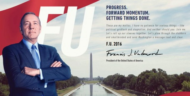 Frank Underwook 2016 - House of Cards 4