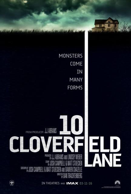 Póster promocional de 10 Cloverfield Lane (2016)