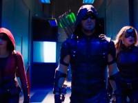 Thea (Speedy), Oliver (Green Arrow) y Laurel (Black Canary) en Arrow 4x11 (Promos)