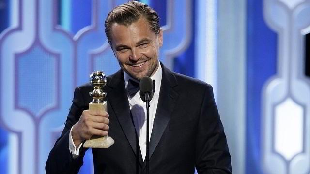Leonardo DiCaprio recibe el Premio a Mejor Actor en los Golden Globes 2016
