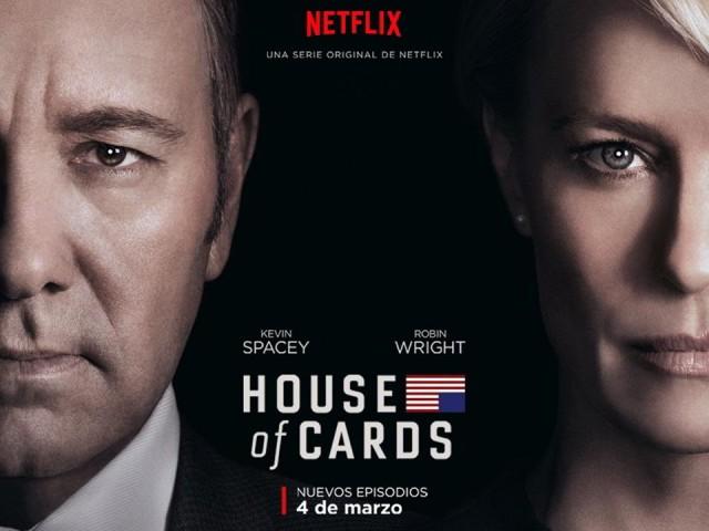 Frank Underwood (Kevin Spacey) y Claire Underwood (Robin Wrigh) en el póster de la cuarta temporada de House of Cards