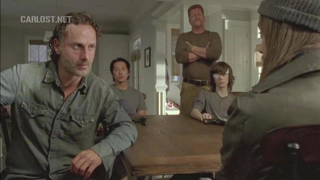 (Spoiler) Rick, Glenn, Abraham y Carl conversan con Jesus en The Walking Dead 6x11 Knots Untie
