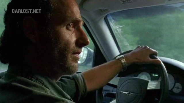 (Spoiler) Rick manejando en The Walking Dead 6x10 The Next World