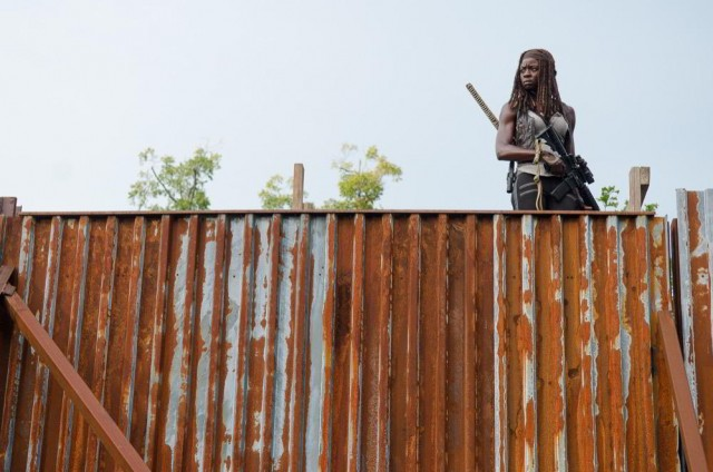 Danai Gurira como Michonne en The Walking Dead 6x10