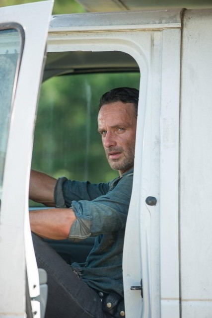 Andrew Lincoln como Rick Grimes en The Walking Dead 6x10