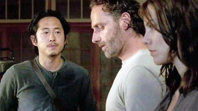 Glenn, Rick y Maggie en The Walking Dead 6x12 Not Tomorrow Yet (Promos + Sneak Peeks)